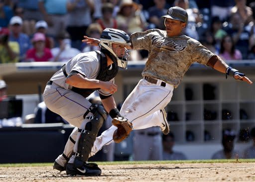 Venable, Cabrera lead Padres past Rockies 3-2