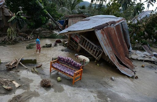 At least 325 people have been killed and hundreds remain missing after the typhoon