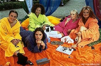 Sporty ( Melanie Chisholm ), Posh ( Victoria Beckham ), Scary ( Melanie Brown ), Baby ( Emma Bunton ) and Ginger ( Geri Halliwell ) are The Spice Girls in Spice World