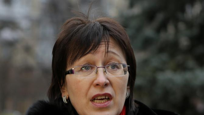 """Inna Duritskaya, mother of Anna Duritskaya, speaks to the Associated Press in Kiev, Ukraine, on Monday, March 2, 2015. Anna Duritskaya, 23, was the only witness in the weekend killing in Moscow of Russian opposition politician Boris Nemtsov, a fierce critic of President Vladimir Putin. Duritskaya's mother Inna, who spoke to the Associated Press in Kiev, said that she has been in touch with her daughter. She said Anna was very upset, and that she was worried the Russian authorities were """"putting psychological pressure on her."""" (AP Photo/Sergei Chuzavkov)"""