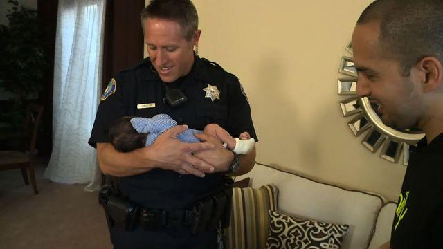 Police officer delivers baby in California parking lot