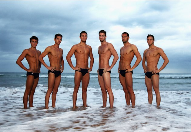 Australian Olympic Games Swimming Team Portrait Session