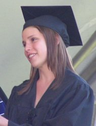 Julia Whelan at Middlebury College Commencement, May 25, 2008; cropped version of Julia Whelan -- Middlebury Commencement.JPG