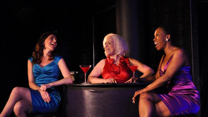 "This undated image released by Bitten By a Zebra shows, from left, Catherine Porter as Lily, Babs Winn as Mary-Marie? and Brenda Braxton as Clarity in a scene from ""Cougar the Musical."" (AP Photo/Bitten By a Zebra)"
