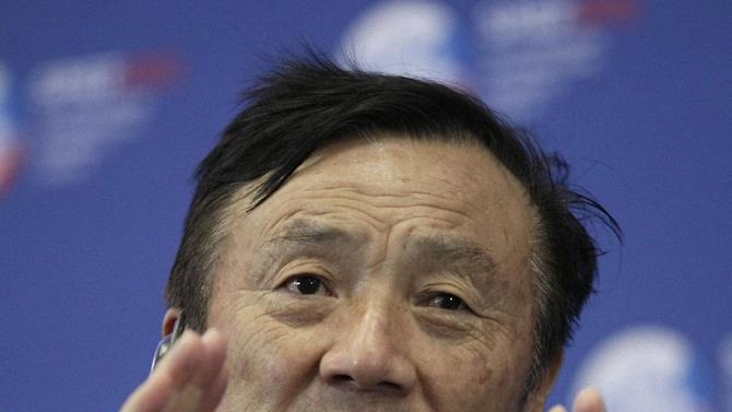 Ren Zhengfei, CEO of Huawei Technologies, speaks at the International economic forum in St. Petersburg, Russia, Friday, June 22, 2012.  President Vladimir Putin said Thursday that reforming Russia's economy is his top priority. Business leaders welcomed the commitment, but noted that such pledges have been made before and need to be backed up by action. (AP Photo/Dmitry Lovetsky)