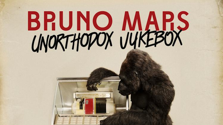 "This undated publicity photo provided by Atlantic Records shows the cover of Bruno Mars' new album, ""Unorthodox Jukebox."" (AP Photo/Atlantic Records)"