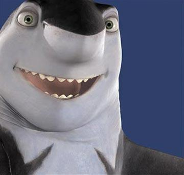 Jack Black is the voice of Lenny in Dreamworks' Shark Tale