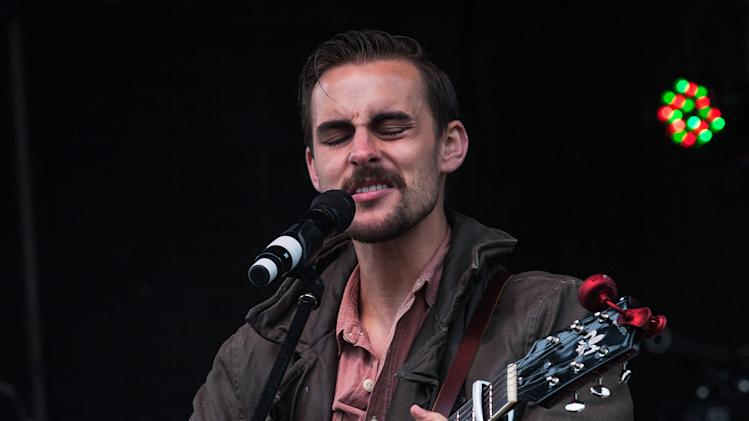 Musician Robert Ellis performs at the inaugural Shaky Knees Music Festival on Saturday, May 4, 2013, in Atlanta. (AP Photo/Ron Harris)