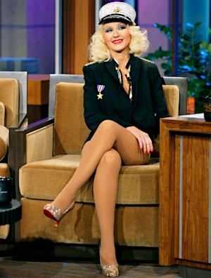 """Christina Aguilera Goes Without Pants, Talks 5-Year-Old Son Max's Ability to """"Outsmart"""" Her on The Tonight Show With Jay Leno"""