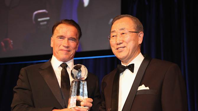 Arnold Schwarzenegger Named A 2012 Global Advocate Of The Year By United Nations Correspondents Association