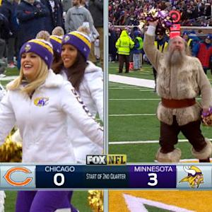 Minnesota Vikings mascot Ragnar tries out for Vikings Cheer squad