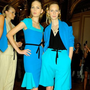 Roland Mouret SS12 Backstage: Tonal Blue Fashion Trend