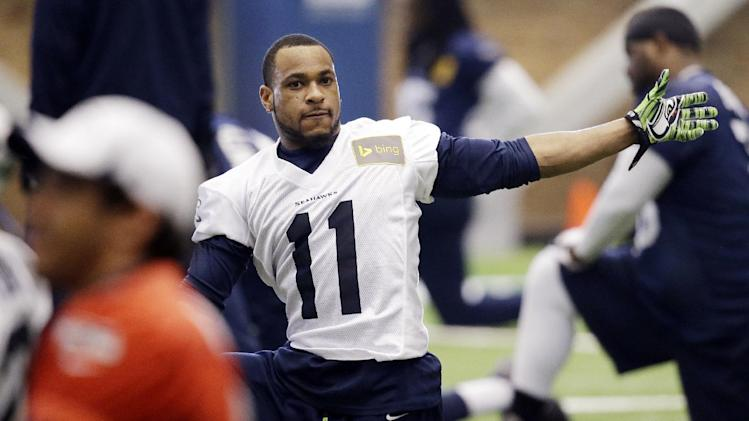 Percy Harvin back to practice for Seattle