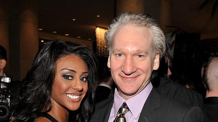 Bill Maher (right) and guest attend the 2008 Clive Davis Pre-GRAMMY party at the Beverly Hilton Hotel.