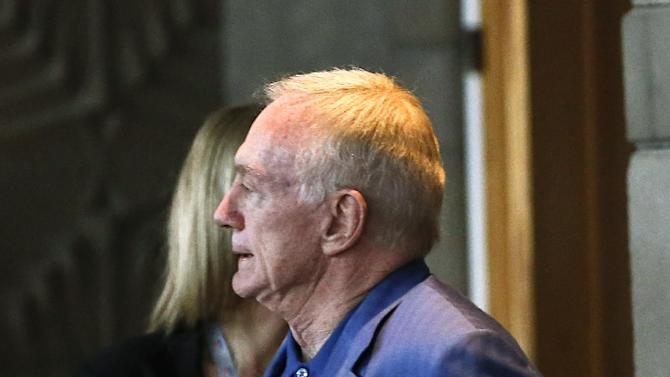 Dallas Cowboys owner Jerry Jones walks out after the morning owners' session at the NFL football annual meetings, Tuesday, March 19, 2013, in Phoenix. (AP Photo/Ross D. Franklin)