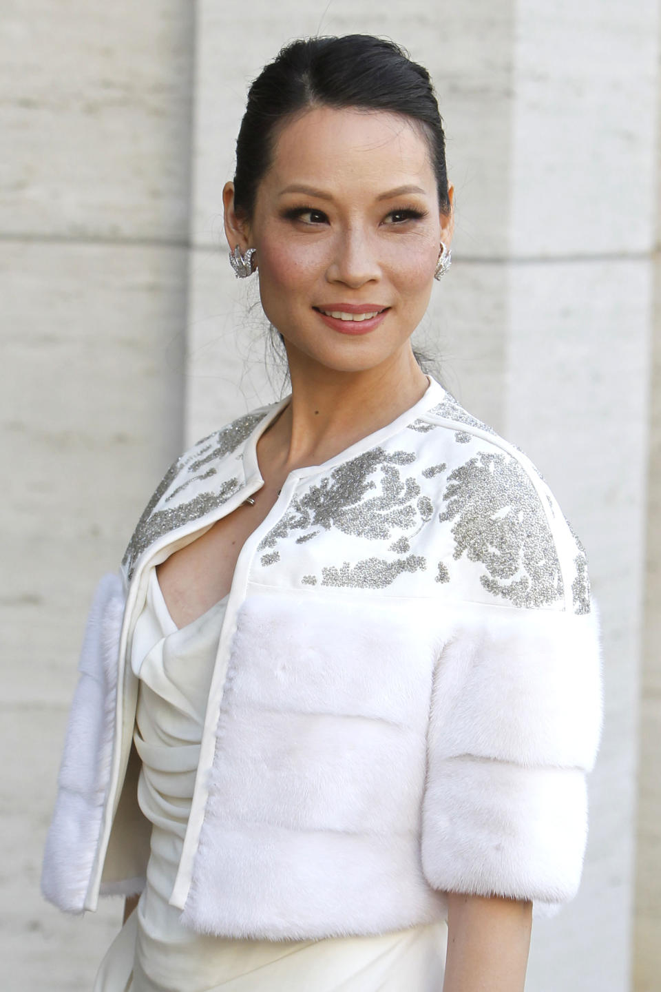 Actress Lucy Liu arrives for the American Ballet Theatre Spring Gala at the Metropolitan Opera House, Monday, May 13, 2013 in New York. (Photo by Jason DeCrow/Invision/AP)