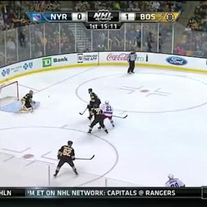 Tuukka Rask Save on Derek Stepan (04:49/1st)