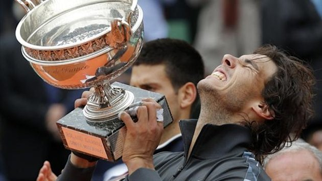Rafael Nadal wins the 2012 French Open (Reuters)