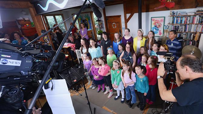 """A Song From Sandy Hook"" Sung By The Children Of Newtown, CT With Ingrid Michaelson At The Home Of Chris Frantz And Tina Weymouth Of The Talking Heads"