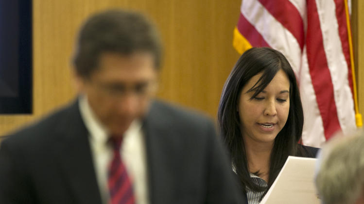 witness for the prosecution reads evidence as Prosecutor Juan Martinez ...