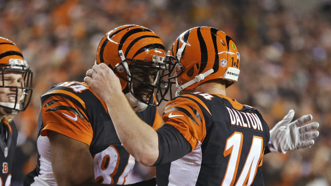 Hill's run helps Bengals lead Broncos 20-7 at half