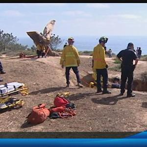Hiker rescued after falling off a cliff in Del Mar