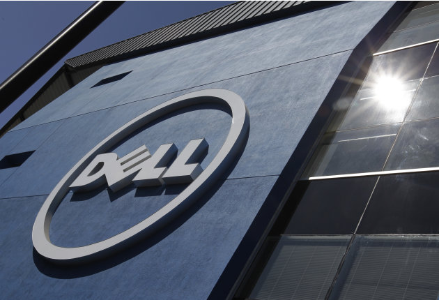 The sun is reflected in the exterior of Dell Inc.'s offices in Santa Clara, Calif., Tuesday, Aug. 21, 2012.  Dell Inc.'s announced Tuesday, Aug. 21, 2012, that its earnings slump deepened in its lates