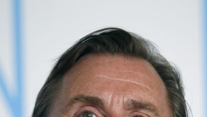"Cast member Tim Roth attends a news conference for the film ""Chronic"" in competition at the 68th Cannes Film Festival in Cannes"