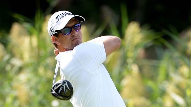 Adam Scott of Australia during the pro am event prior to The Barclays at the Ridgewood Country Club on August 20, 2014 in Paramus, New Jersey