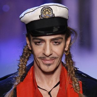File photo of British designer John Galliano in Paris