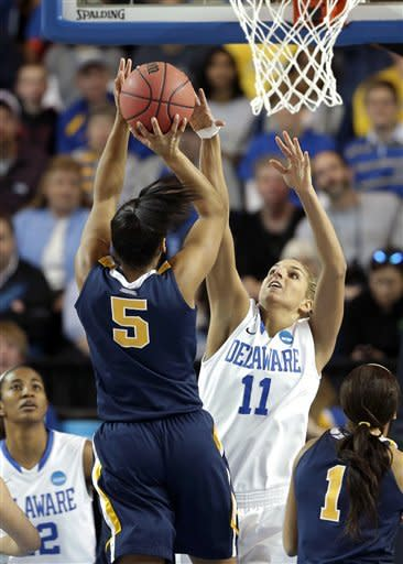 Delaware women defeat West Virginia 66-53 in NCAAs