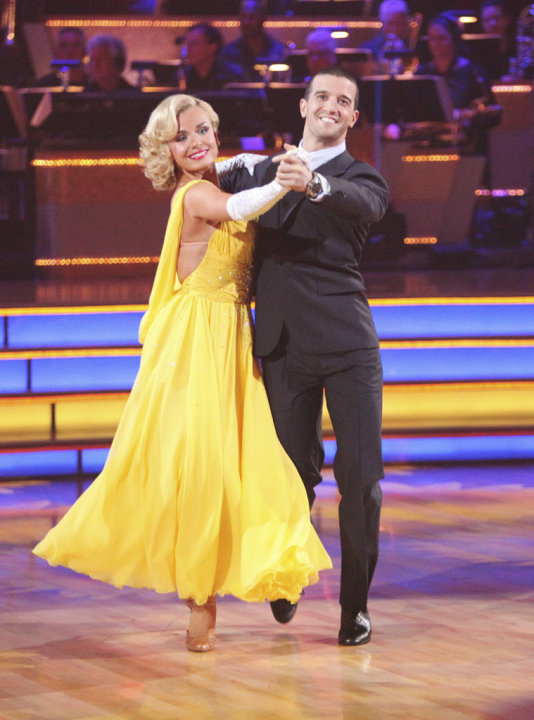 Katherine Jenkins and Mark Ballas perform on &quot;Dancing With the Stars.&quot; 