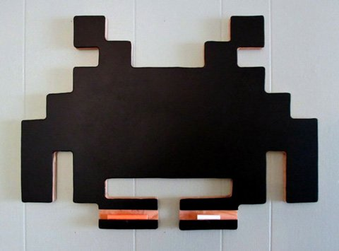 Space Invader Chalkboard