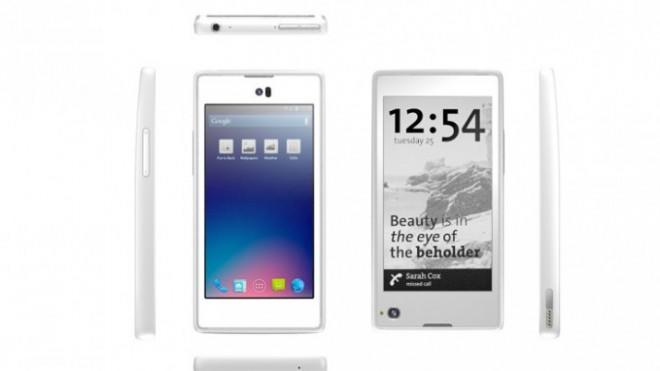 The YotaPhone is expected to retail for around $500 when it is released in Russia in 2013.