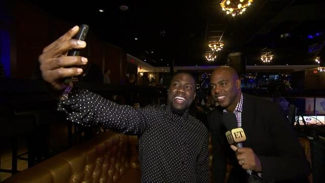 Kevin Hart Mocks Kevin Frazier's Katy Perry Selfie at Madden Bowl