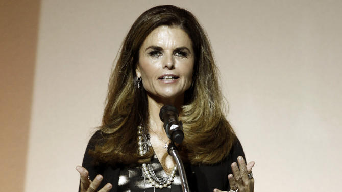 """FILE - This May 1, 2012 file photo shows Maria Shriver speaking at the 7th Annual MOCA Award to Distinguished Women in the Arts luncheon in Beverly Hills, Calif. Shriver says her daughter Christina is so terrified of her mother getting Alzheimer's disease that she's constantly introducing her to games that will keep her mom's mind active. There's a family history to explain the concern: Maria Shriver's father, Sargent, died of Alzheimer's in 2011 at age 95. Maria, who is back at NBC News, began a week-long series of reports on Alzheimer's that is airing on the """"Today"""" show, """"Nightly News"""" and other network platforms starting Tuesday, Sept. 3. (AP Photo/Matt Sayles, File)"""