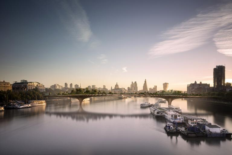 London 'garden bridge' gets official approval