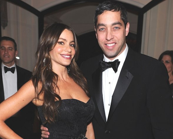 Sofia Vergara and Nick Loeb attends the Bloomberg & Vanity Fair cocktail reception following the 2012 White House Correspondents' Association Dinner at the residence of the French Ambassador in Washington, D.C. on April 28, 2012  -- Getty Premium
