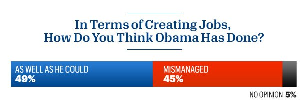 Americans are split on whether Obama could have done better on jobs.