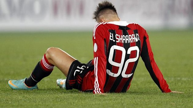 Stephan El Shaarawy sits on the field after losing (Reuters)