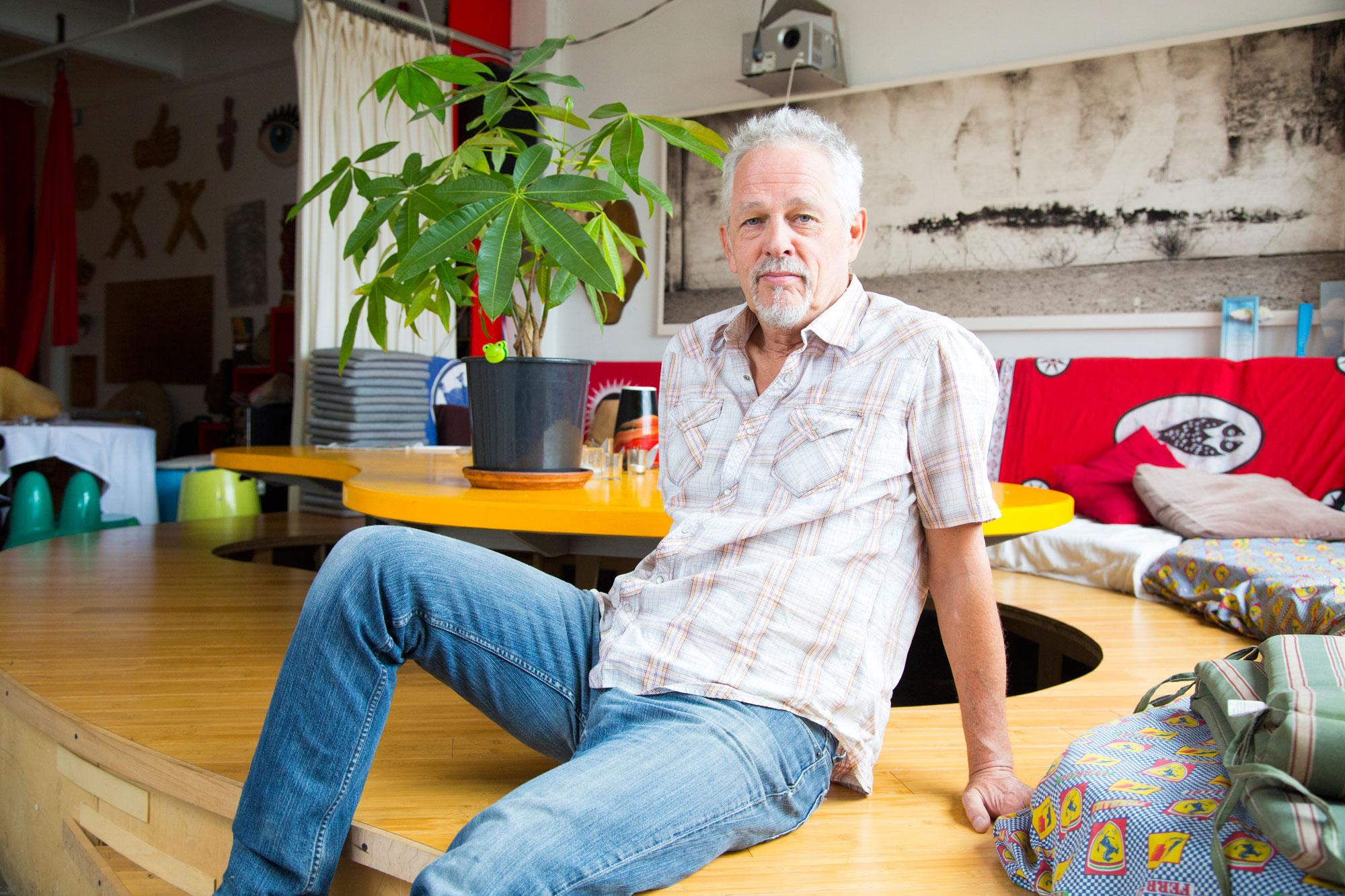 Meet Christo Holloway, Whose Loft Has No Walls But Lots of Airbnb Guests