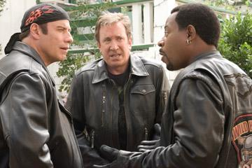 John Travolta , Tim Allen and Martin Lawrence in Touchstone Pictures' Wild Hogs