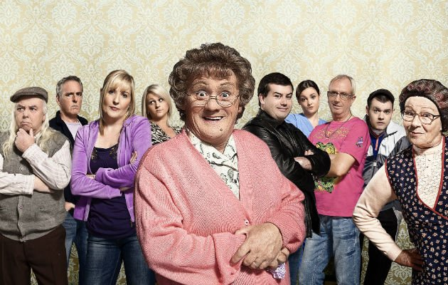 Mrs Brown... O'Carroll talks of debt crisis (Copyright: BBC)