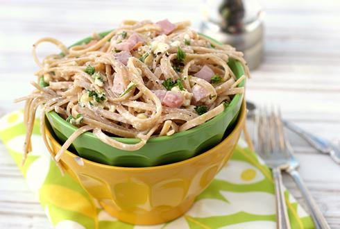 Creamy Corn and Fettucini Pasta Salad