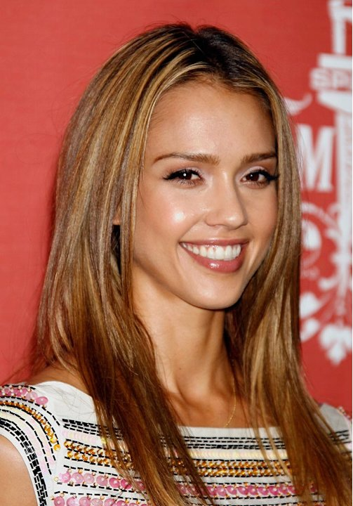 Jessica Alba poses in the press room at Spike TV's Scream Fest 2007 at the Greek Theater.