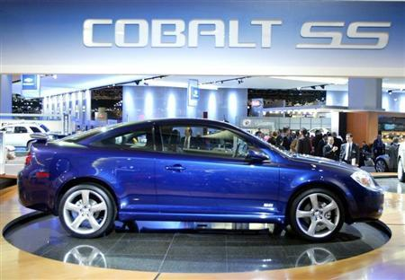 File photo of a 2005 Chevrolet Cobalt SS being displayed on the floor of the North American International Auto Show.