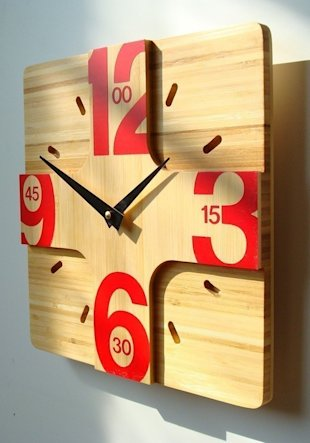 10in Addison Bamboo Wall Clock