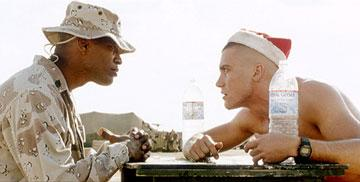 Jamie Foxx and Jake Gyllenhaal in Universal Pictures' Jarhead