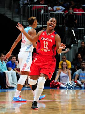 Latta, Mystics take playoff lead over Dream