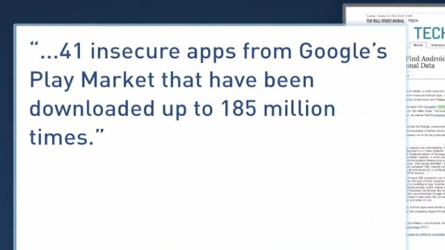 Study Reveals Android Apps Leak Personal Data [VIDEO]
